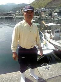 佐賀関漁港 漁師の大本さん