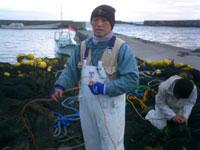 房総白子漁港 漁師の斉藤さん