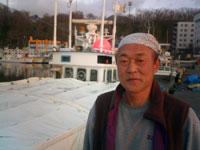 北海道知床ウトロ漁港 漁師の種田さん